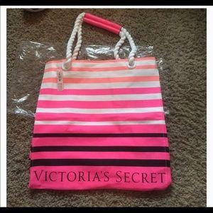 Victoria's Secret Multicolor Stripe Tote